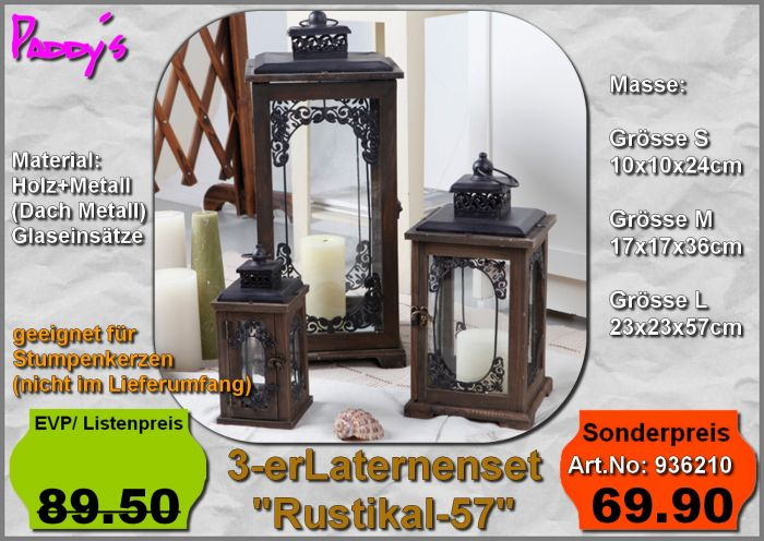 Laternenset Rustikal 57