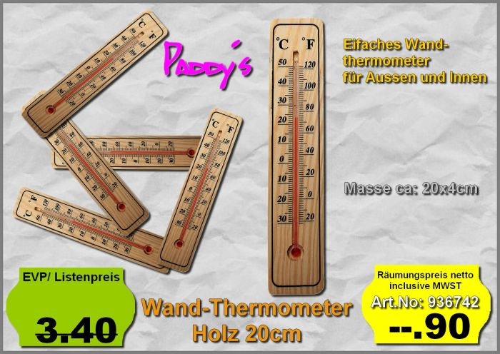 Thermometer Holz