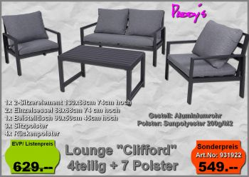 Alu-Lounge Clifford