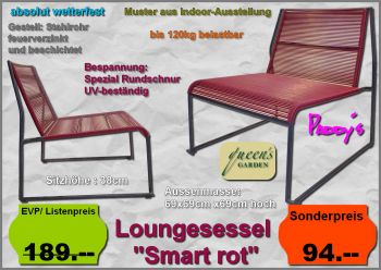 Lounge Sessel Smart rot