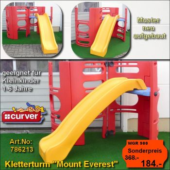 Kletterturm Mount Everest Muster