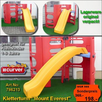 Kletterturm Mount Everest neu