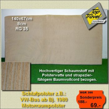 Schlafpolster 140x67 WOMO